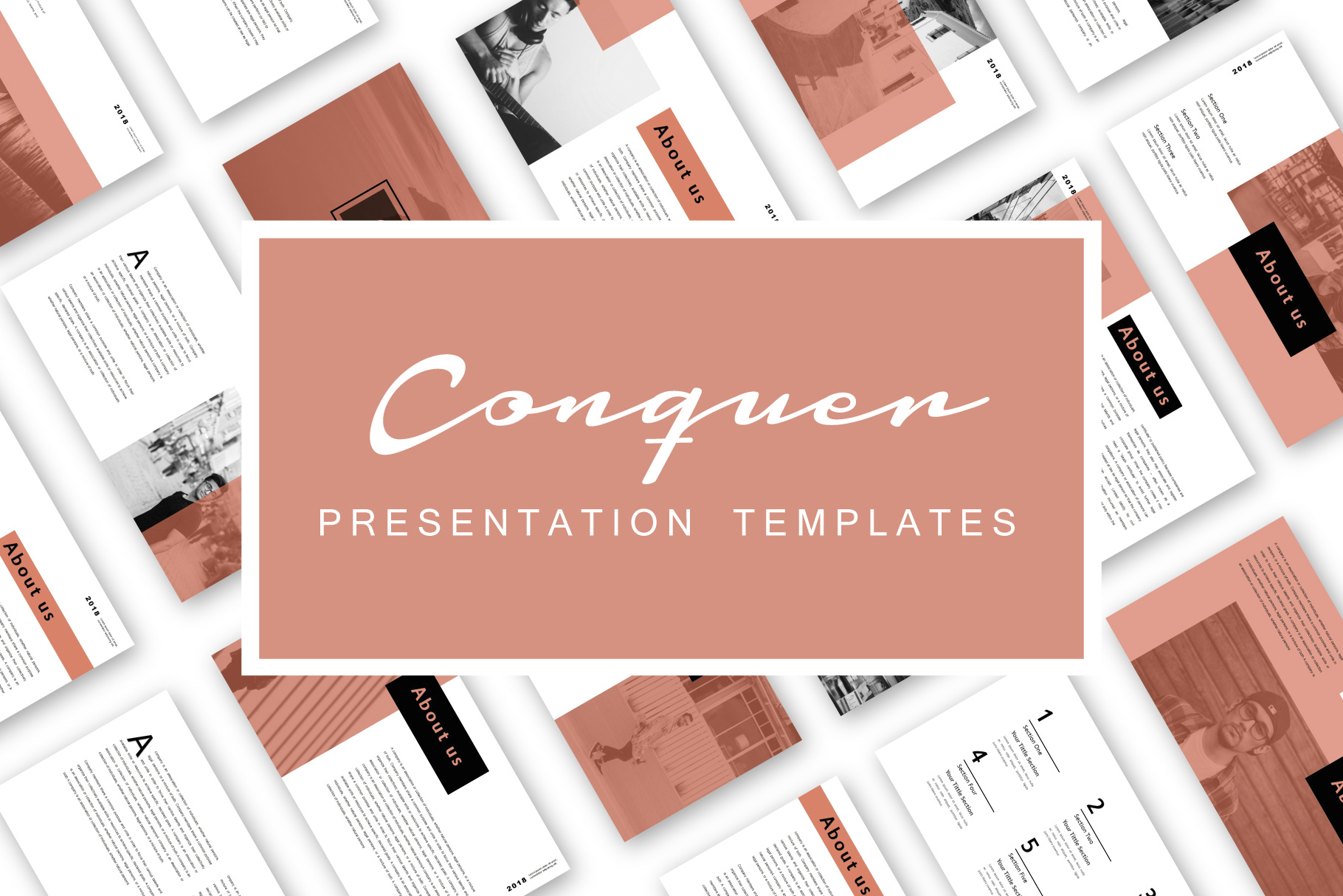 Conquer PowerPoint Templates example image 1