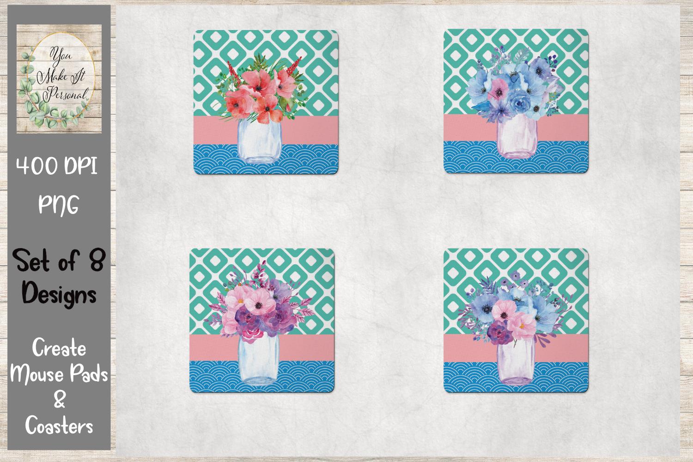 Floral Mason Jar- Mouse Pad and Coaster Bundle example image 4