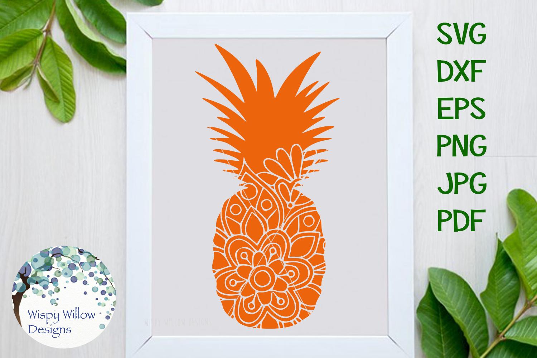 Summer Bundle | Palm Tree | Pineapple | Mermaid Mandala SVG example image 4