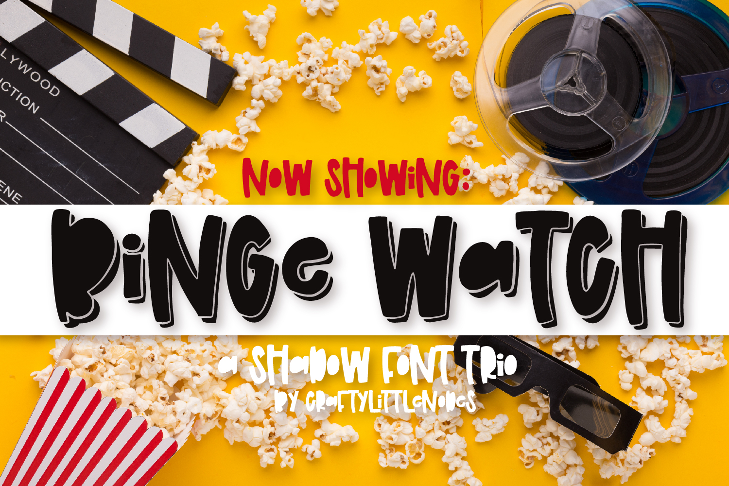 Binge Watch - A Shadow Font Trio example image 1