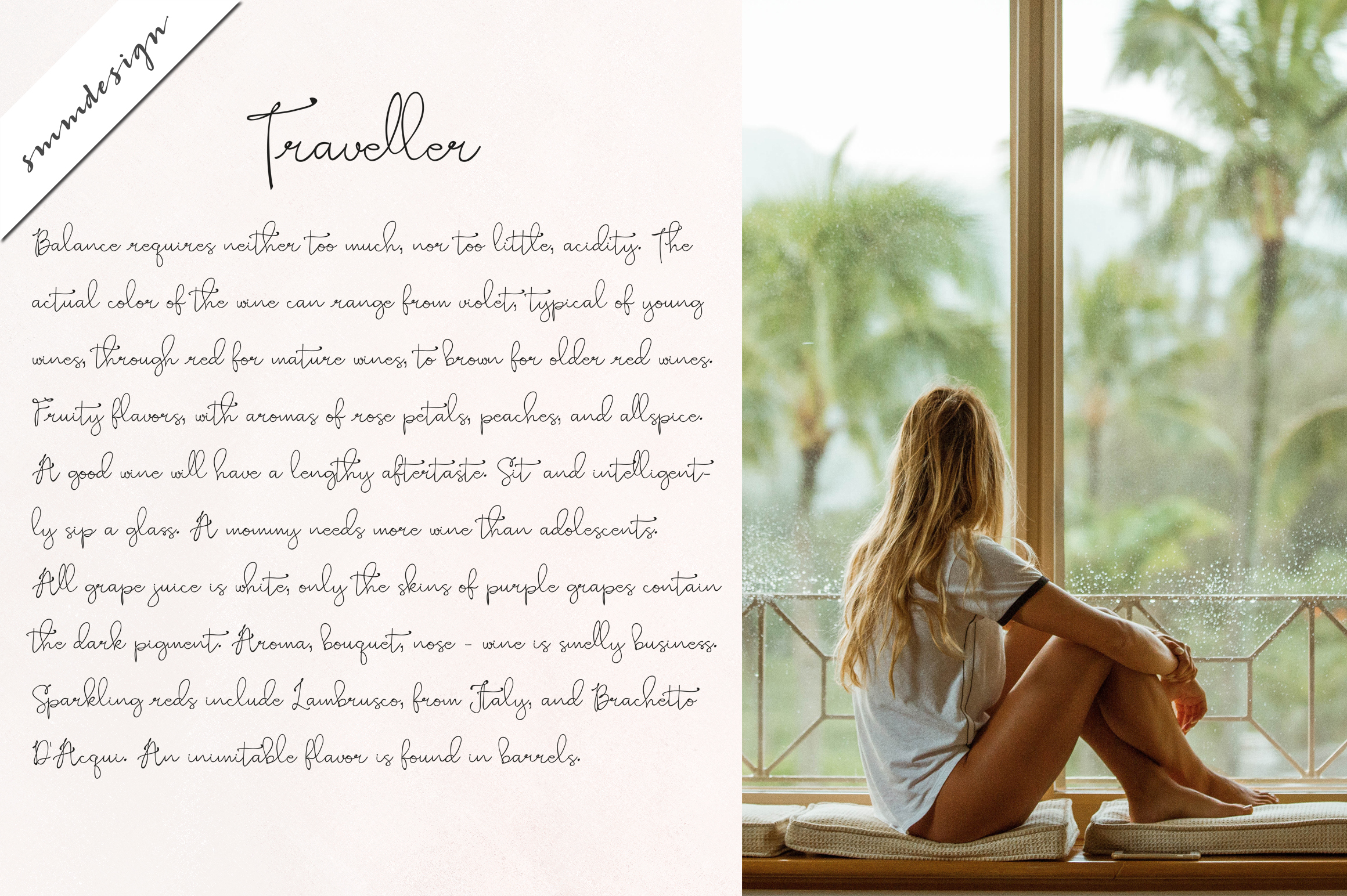 Pretty Sue sweet girly script font example image 9