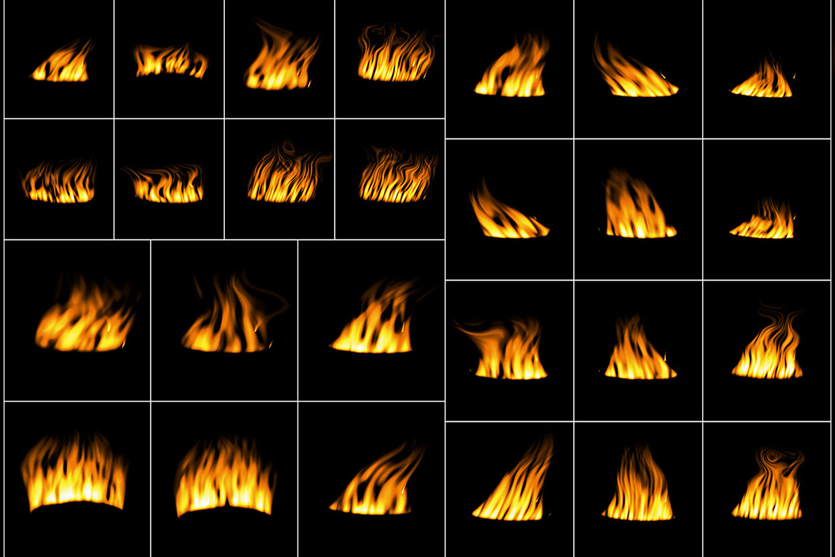 50 Digital Fire Overlays example image 3