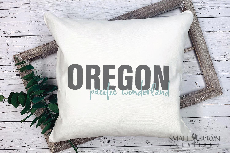 Oregon, Pacific Wonderland - slogan, PRINT, CUT & DESIGN example image 5