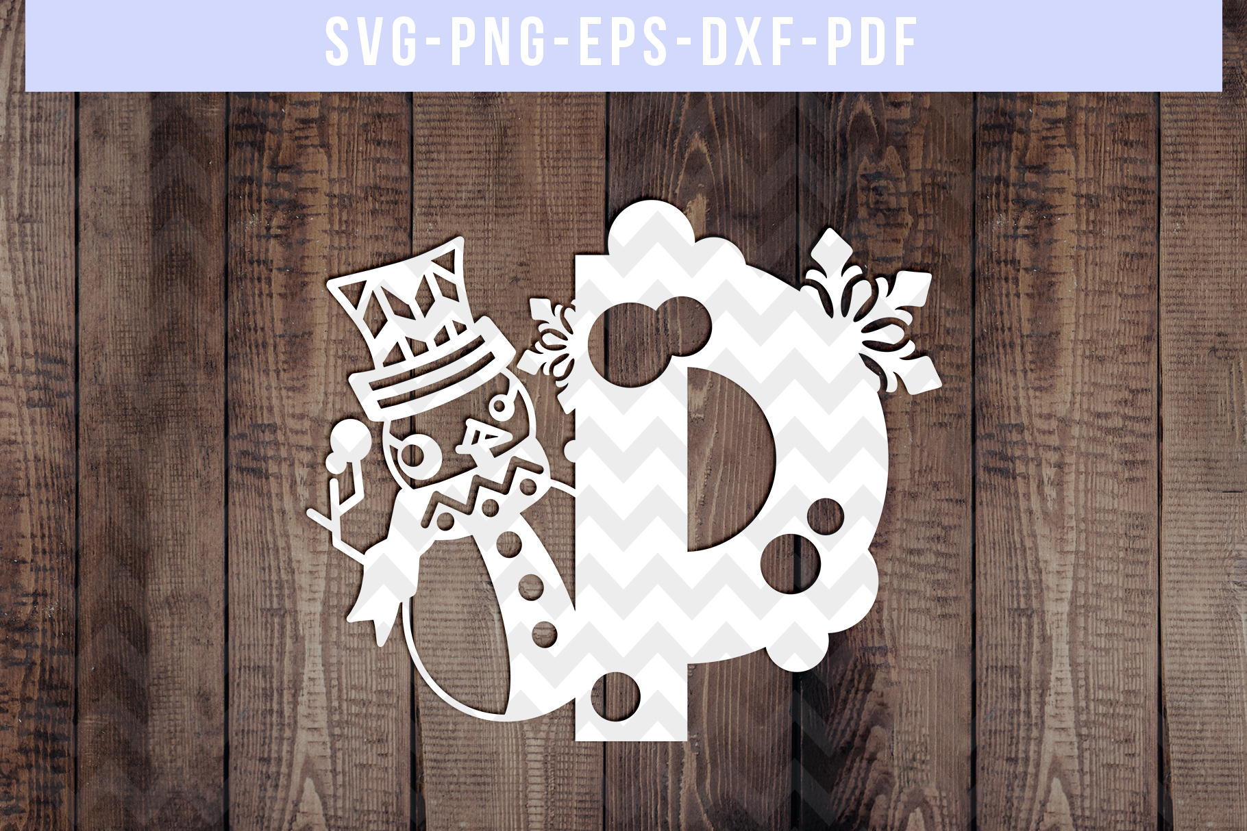Bundle Of 26 A-Z Snowman Alphabet Papercut Templates, SVG example image 17