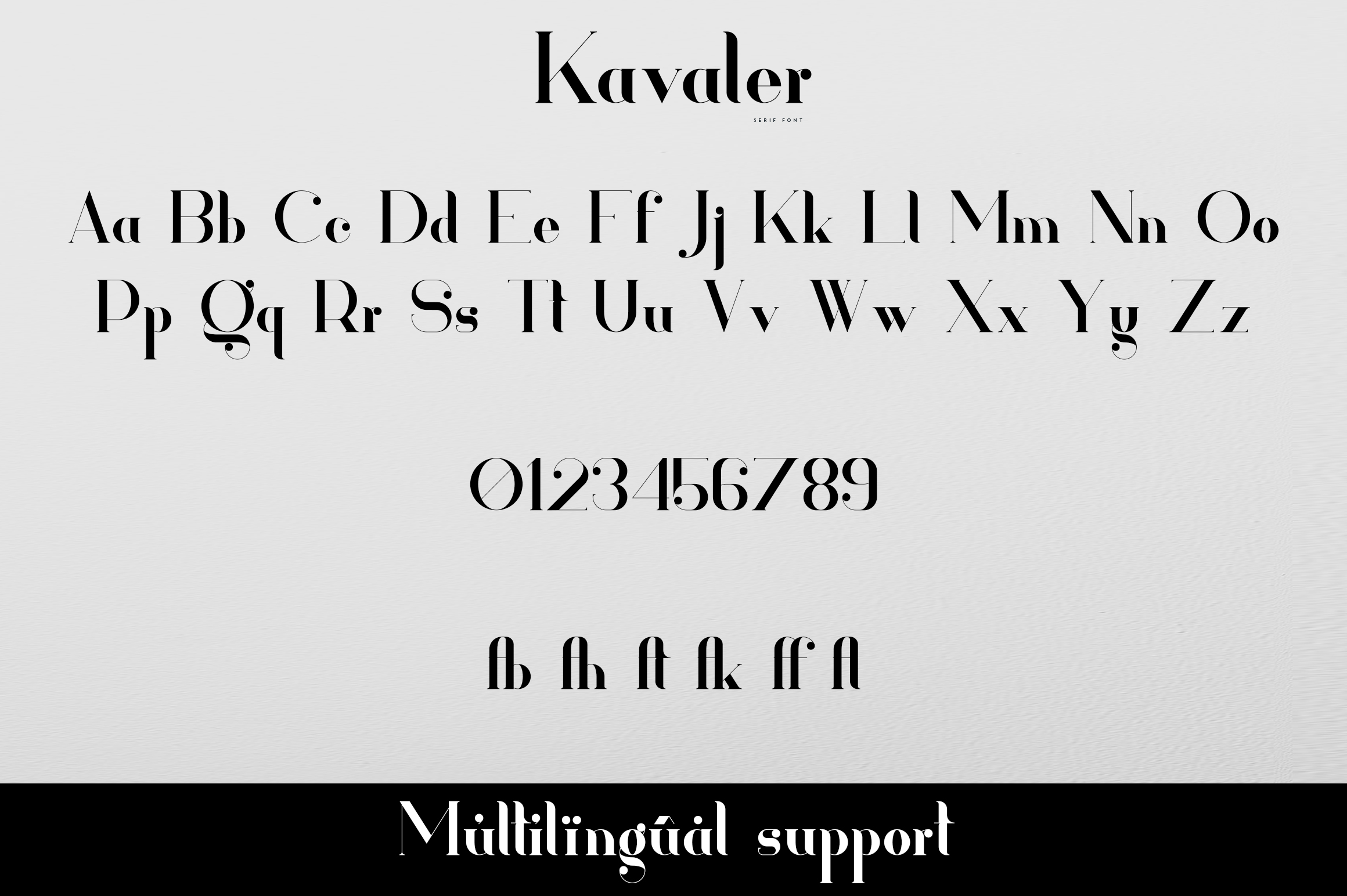 Kavaler - serif font example image 9
