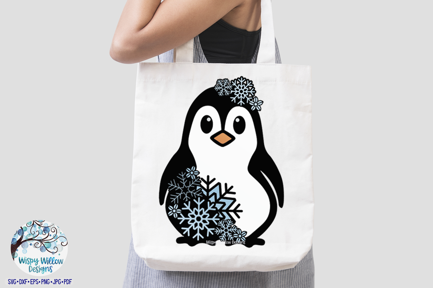 Snowflake Penguin SVG | Winter Penguin Layered SVG Cut File example image 3