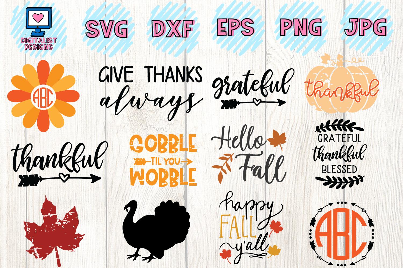 Thanksgiving SVG Bundle | 30 Designs example image 3