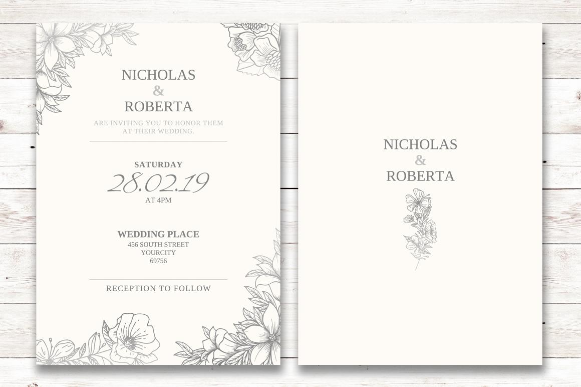 Soft Wedding Invitation Set example image 2
