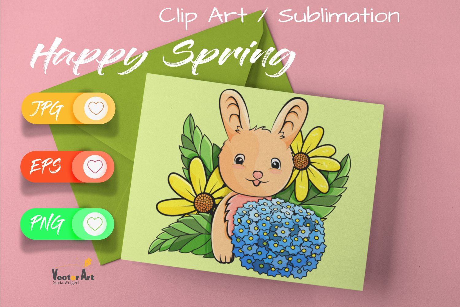 7x Easter and Spring - Mini Bundle - Print and Sublimation example image 3