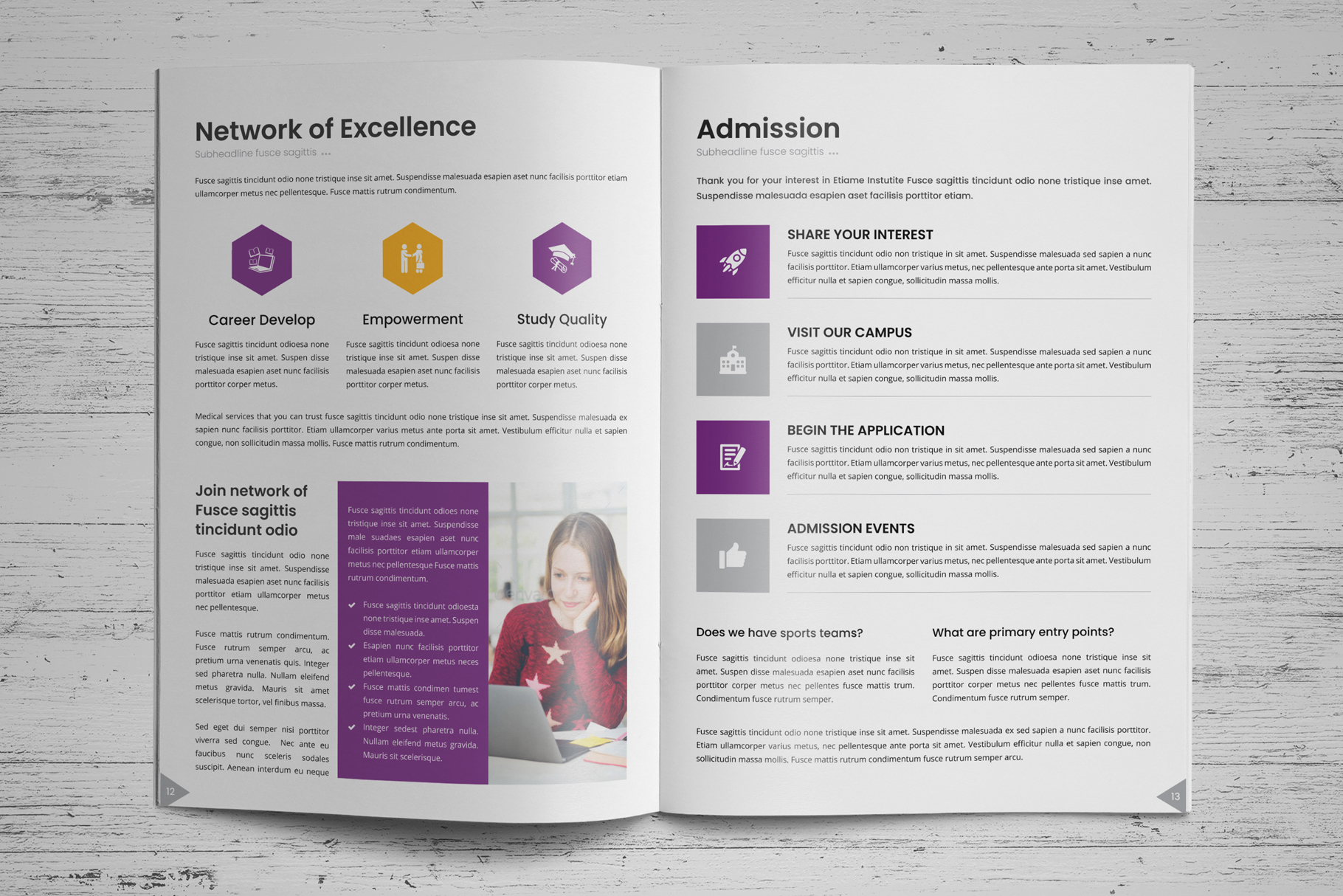 Education Prospectus Brochure v7 example image 9