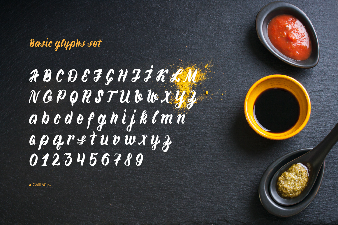 Chili—handwritten font example image 4