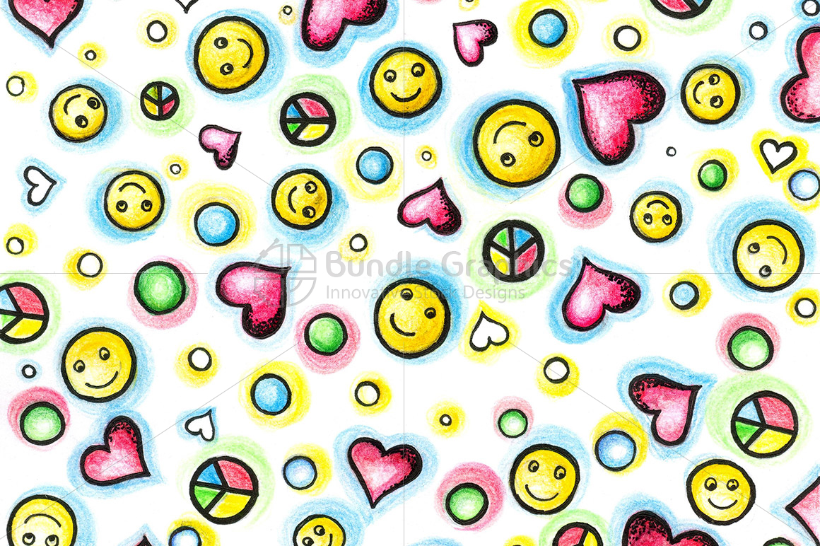 Peace Love Smiles Graphical Image example image 1