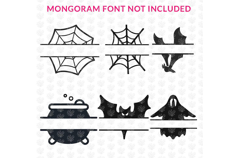 Big SVG Bundle - 31 Halloween Monogram Frame SVG EPS DXF PNG example image 6