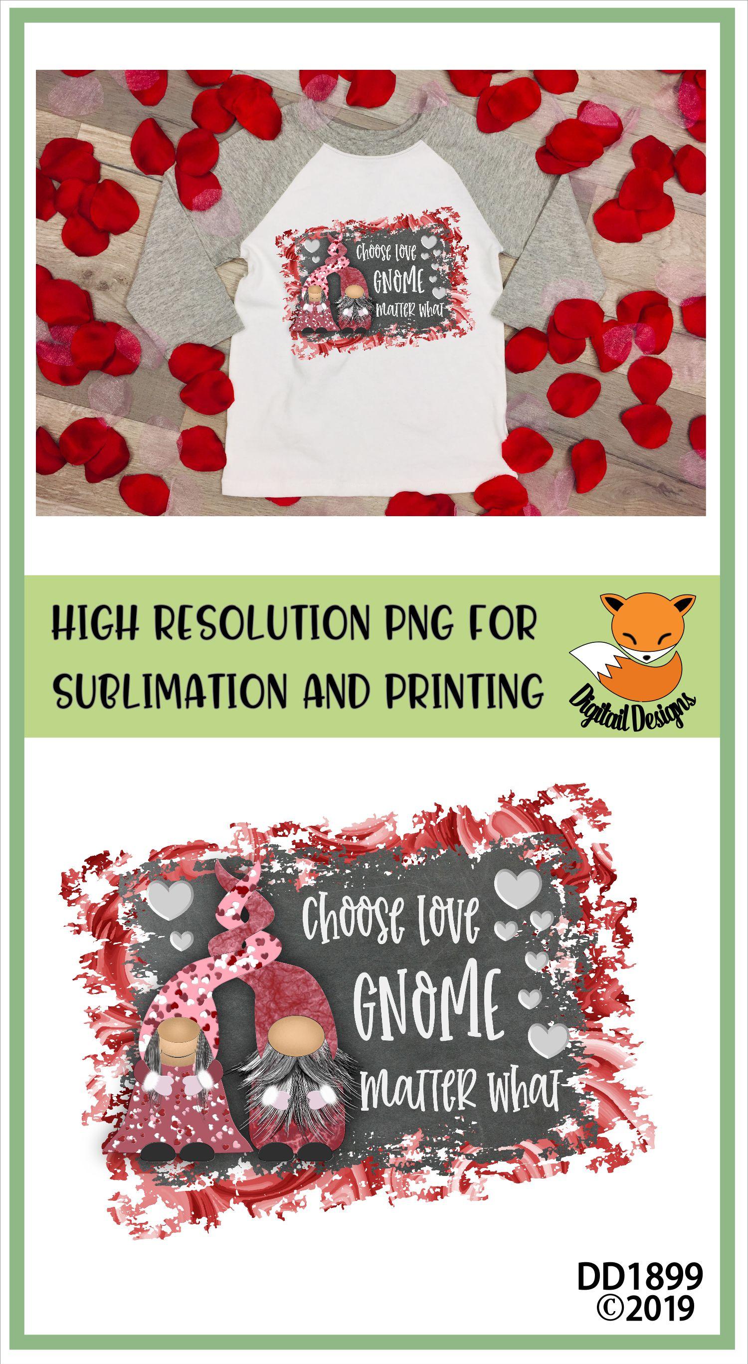 Valentine Nordic Gnome Sublimation Design example image 2