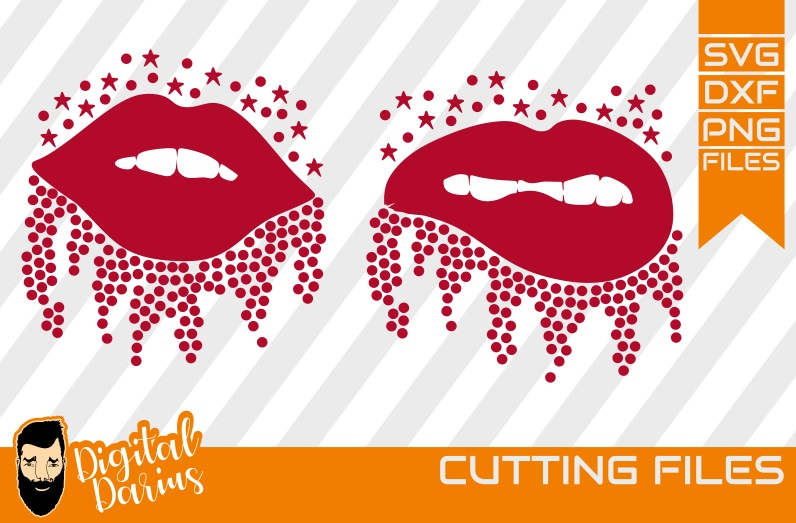 2x Lips svg, Mascara svg, Vector, Cricut, rhinestone svg example image 1