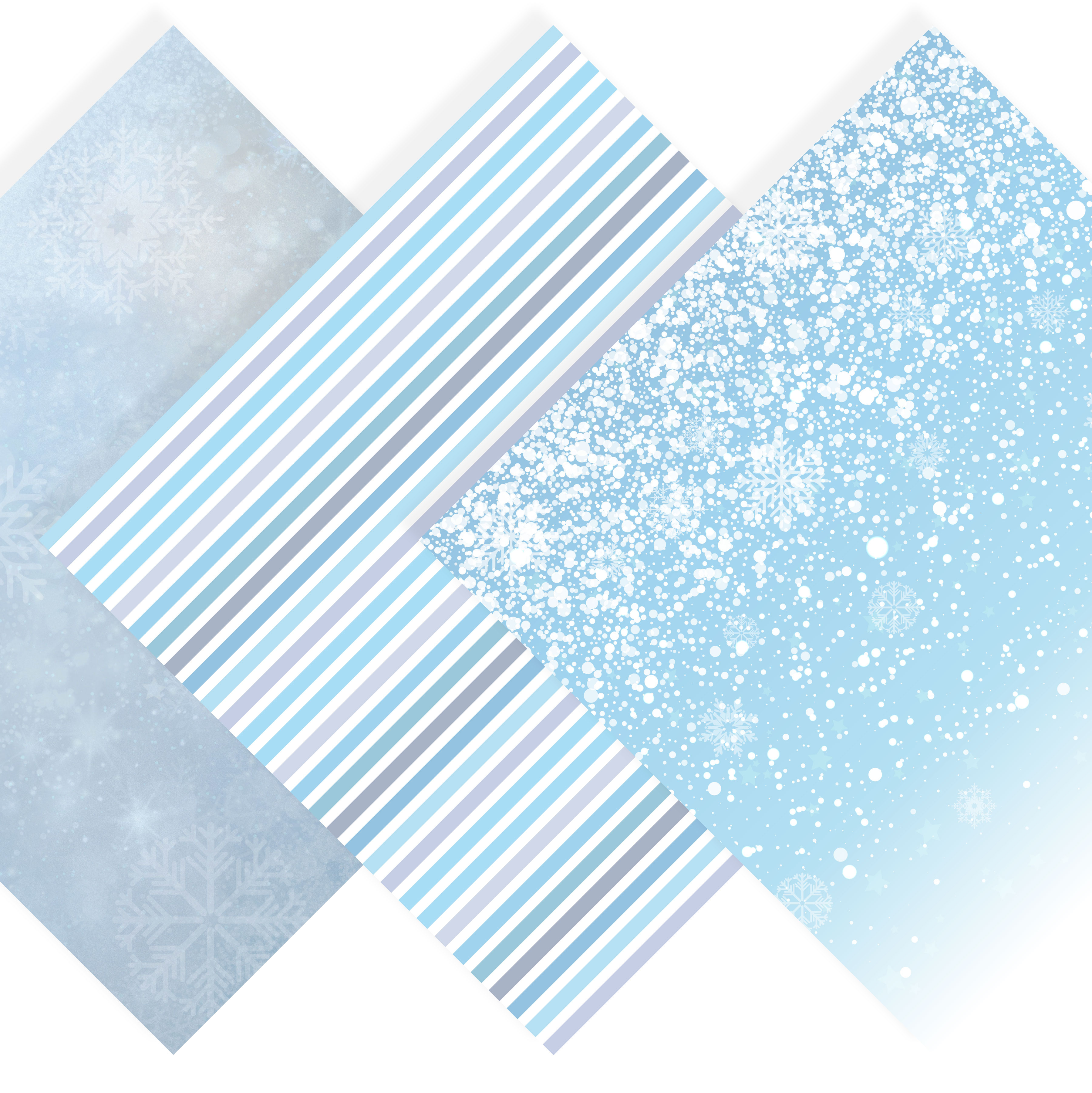Snowflake Clipart & Winter Digital Paper example image 2