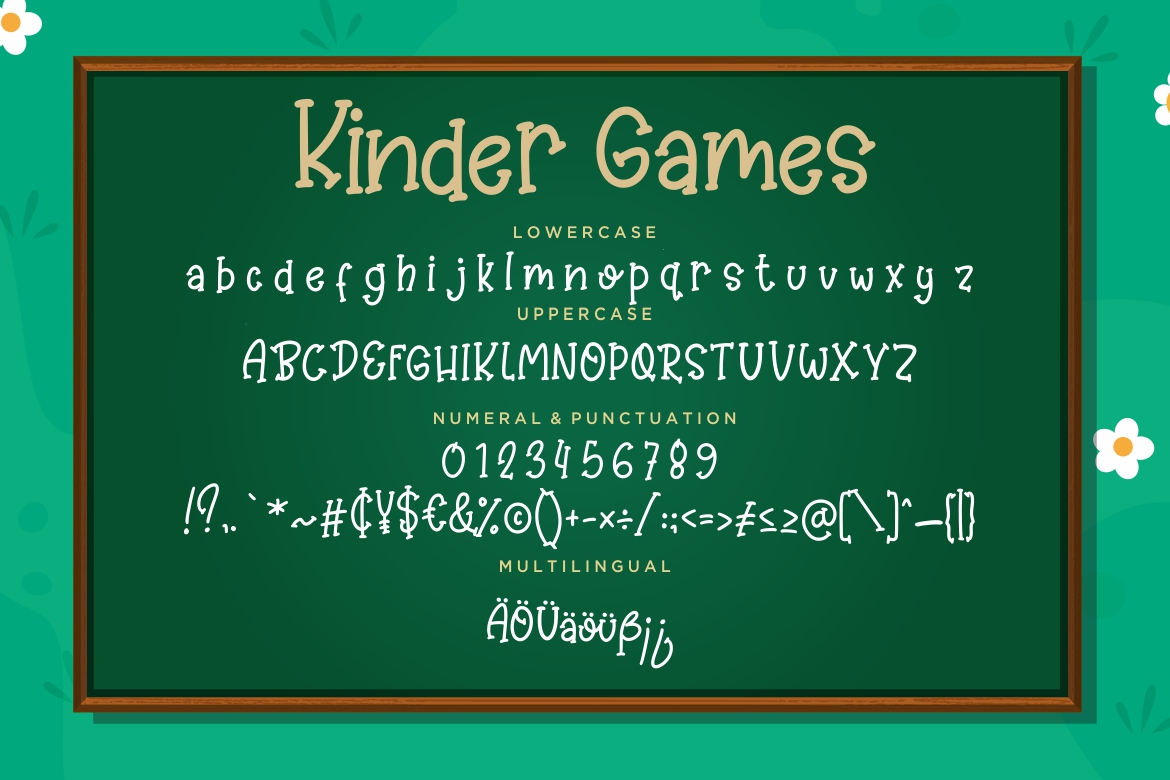 Kinder Games Cute & Fun Typeface example image 7