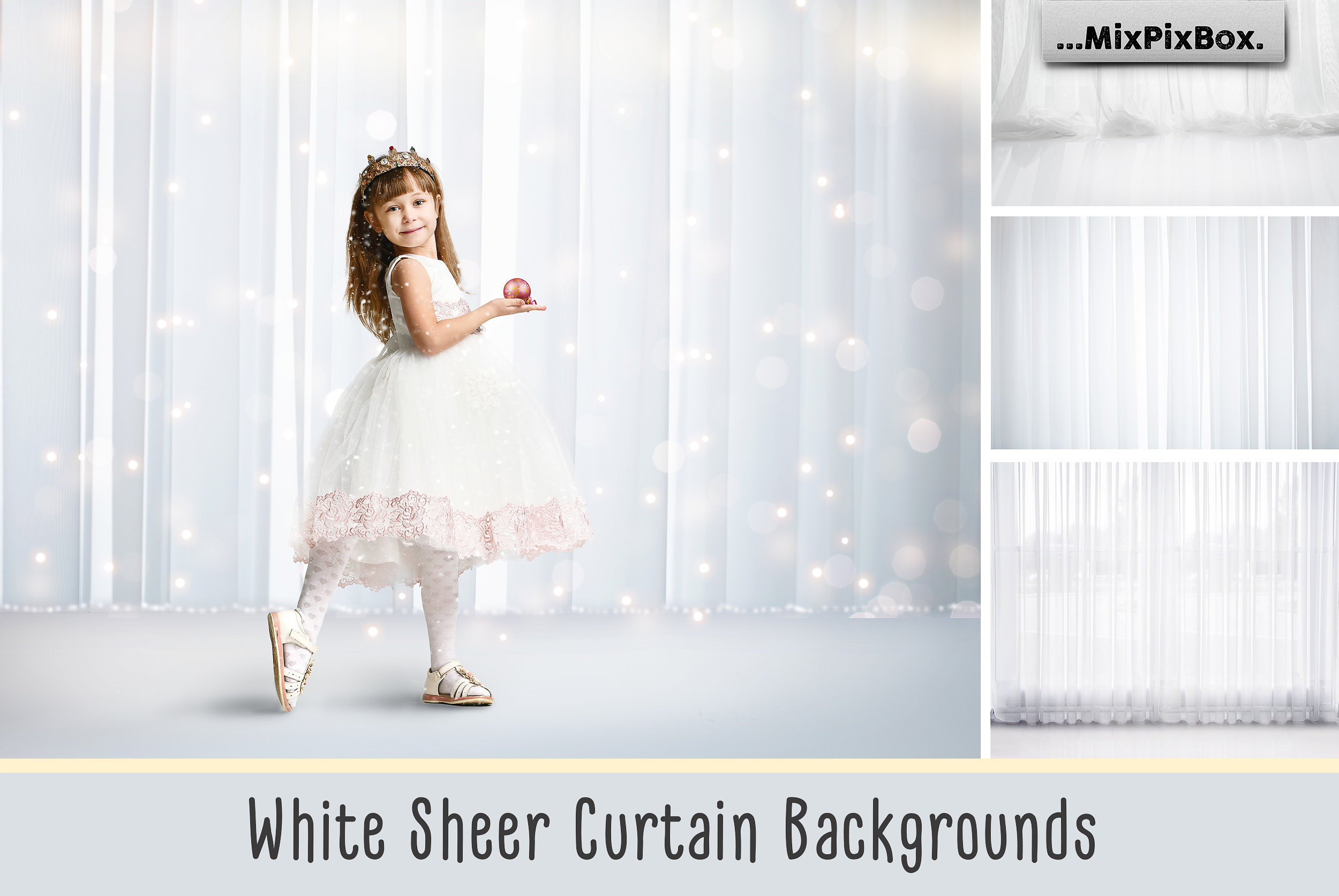 White Sheer Curtain Backgrounds example image 1