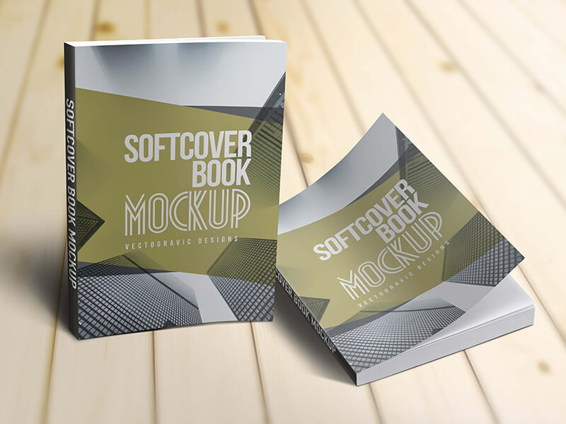 Softcover Book Mockups example image 1