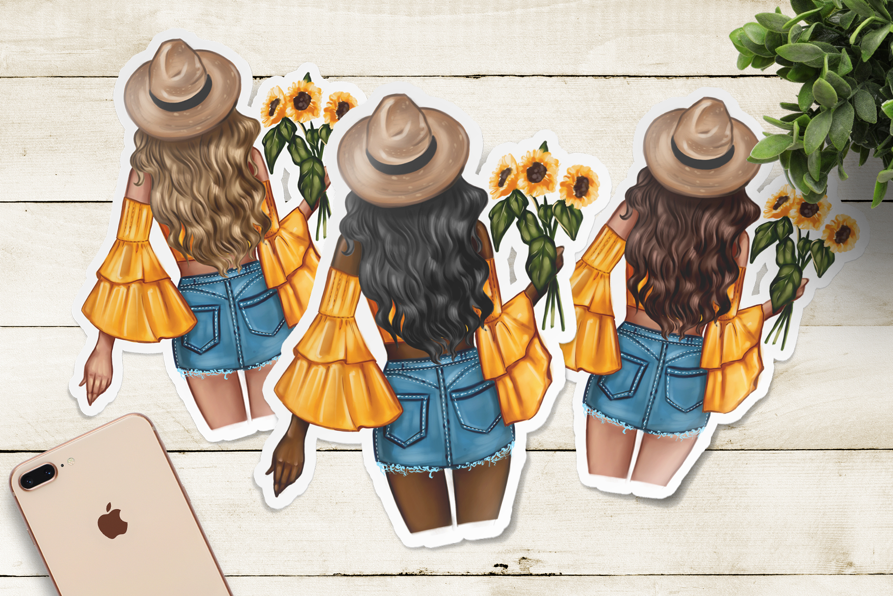 Fashion Clipart // Spring Clipart // Fashion Illustration // example image 3