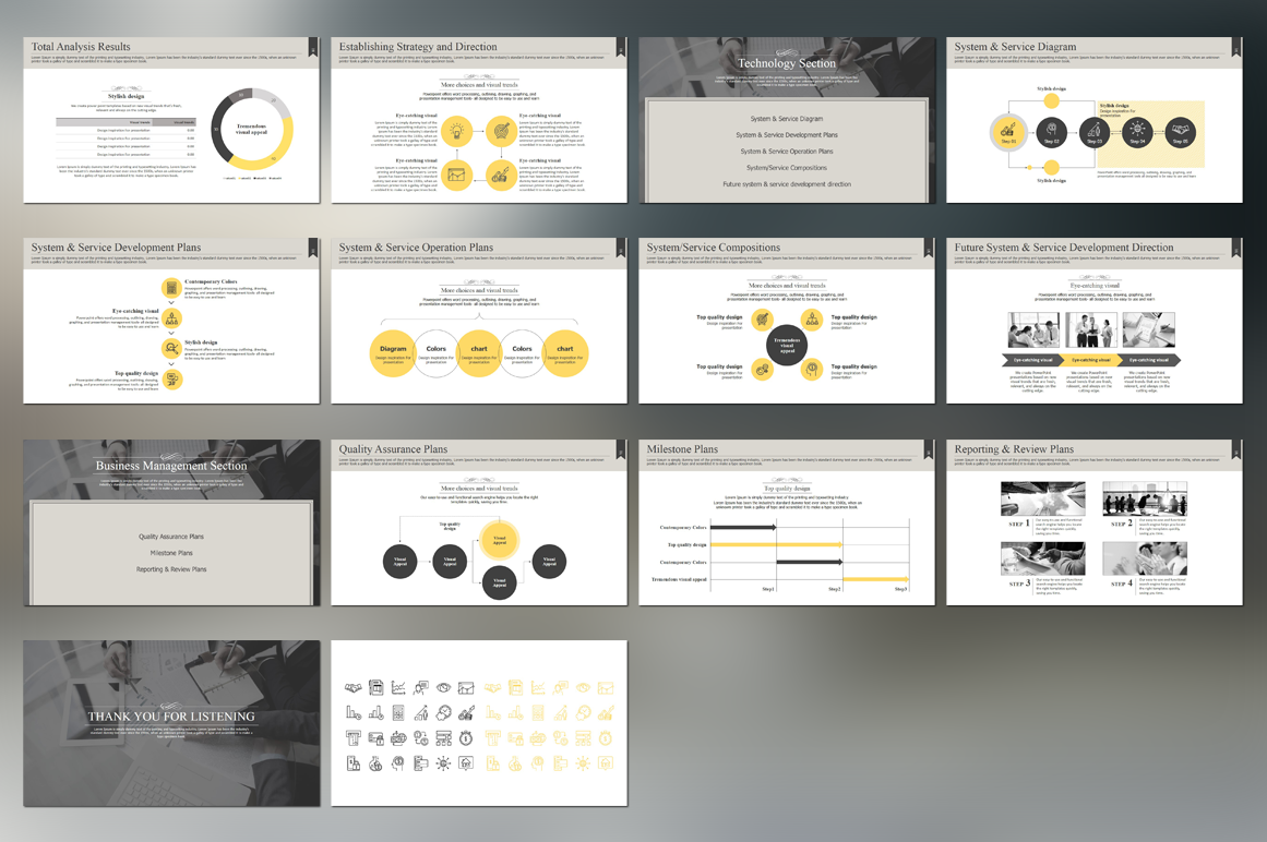 Modern Classic Strategy Proposal PowerPoint example image 3