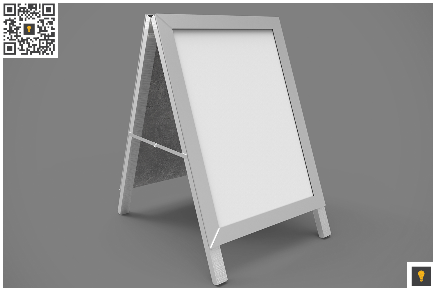 Poster Stand Display 3D Render example image 5