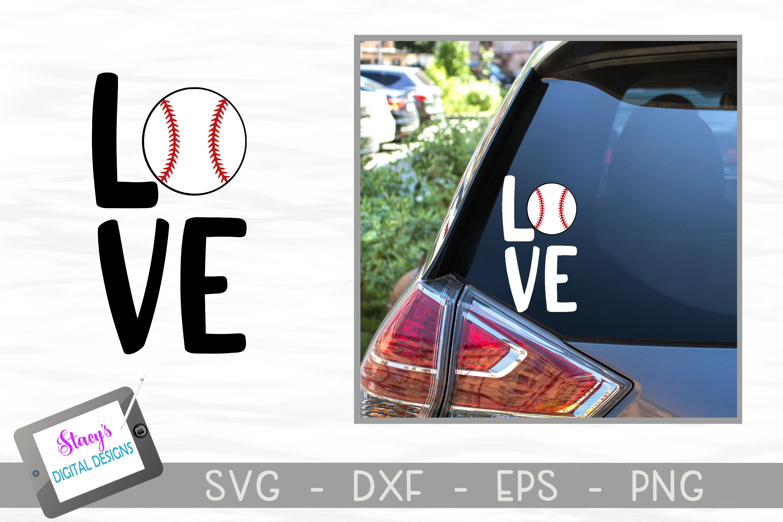 Baseball SVG File - Love with baseball - square example image 2