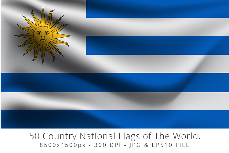 Realistic waving 50 Country National Flags of The World. example image 15