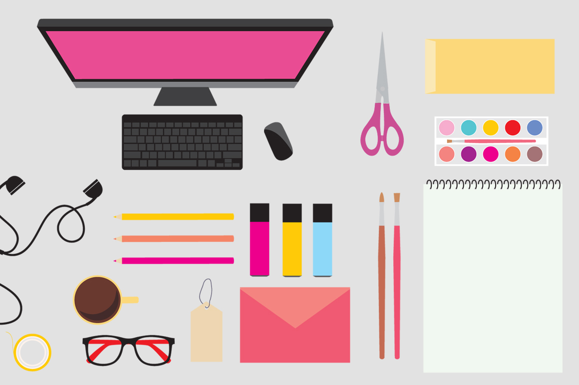 Workspace Mockup / Vector Icons example image 2