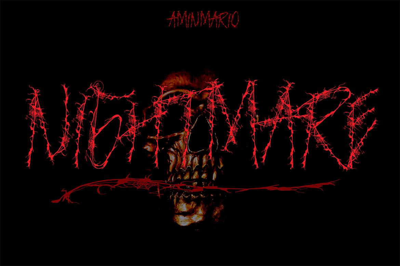 NIGHTMARE | HORROR & HELLOWEEN Font example image 2