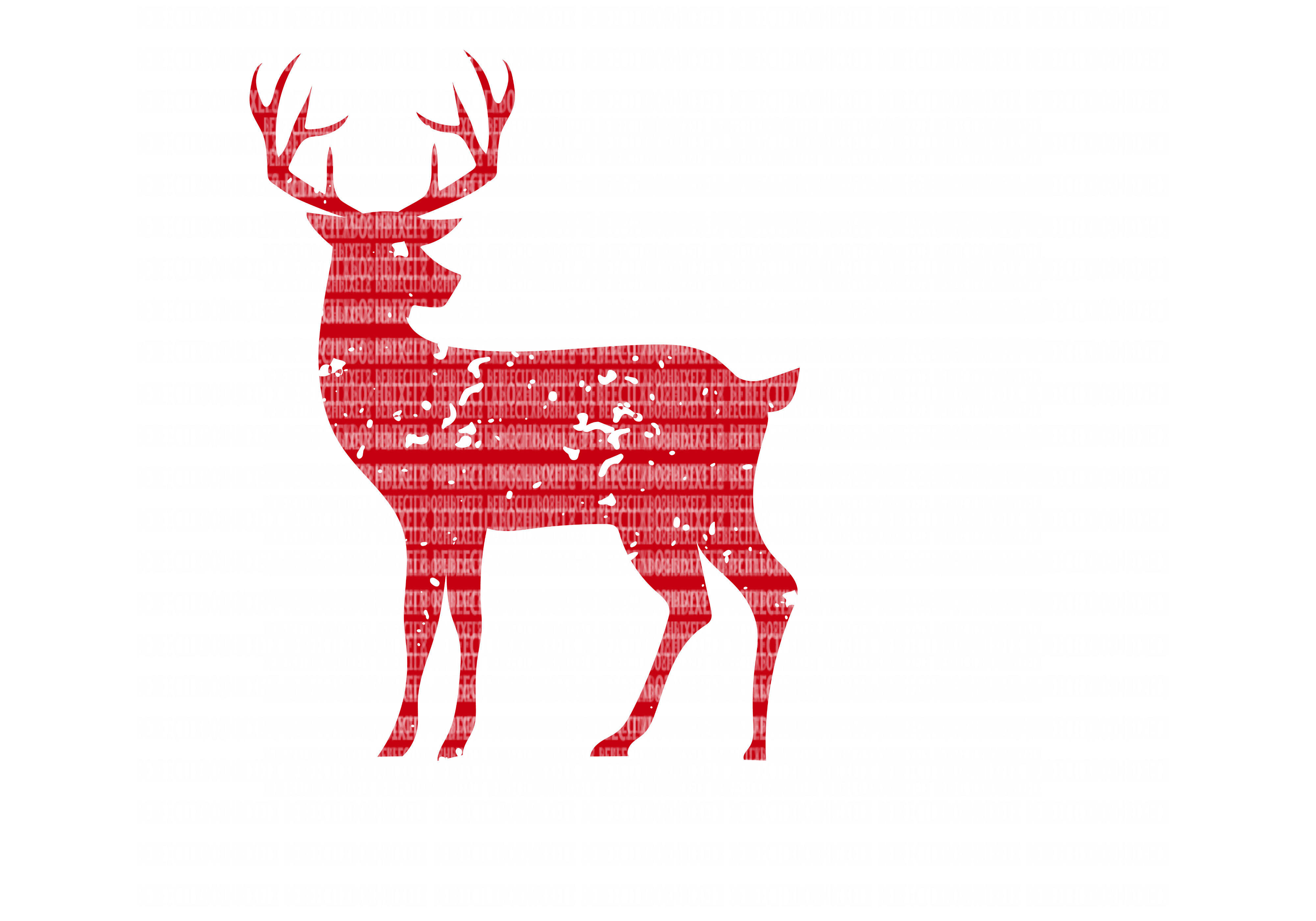 Distressed Deer SVG Files Cut Files Heat Transfer Vinyl Scrapbooking Stencil EPS DXF Silhouette Cameo Cricut Commercial Use example image 1