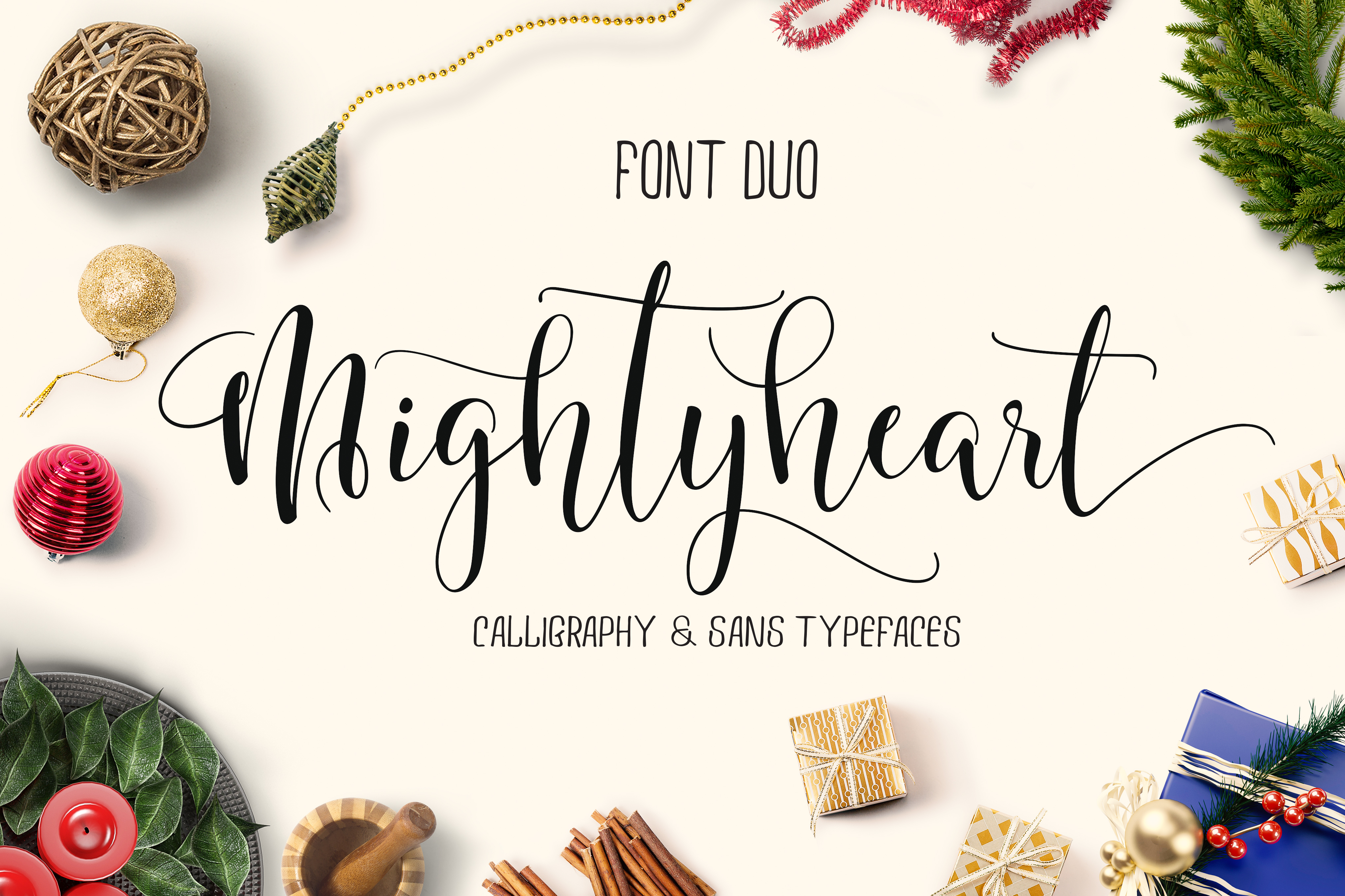 mighty heart - font duo example image 1
