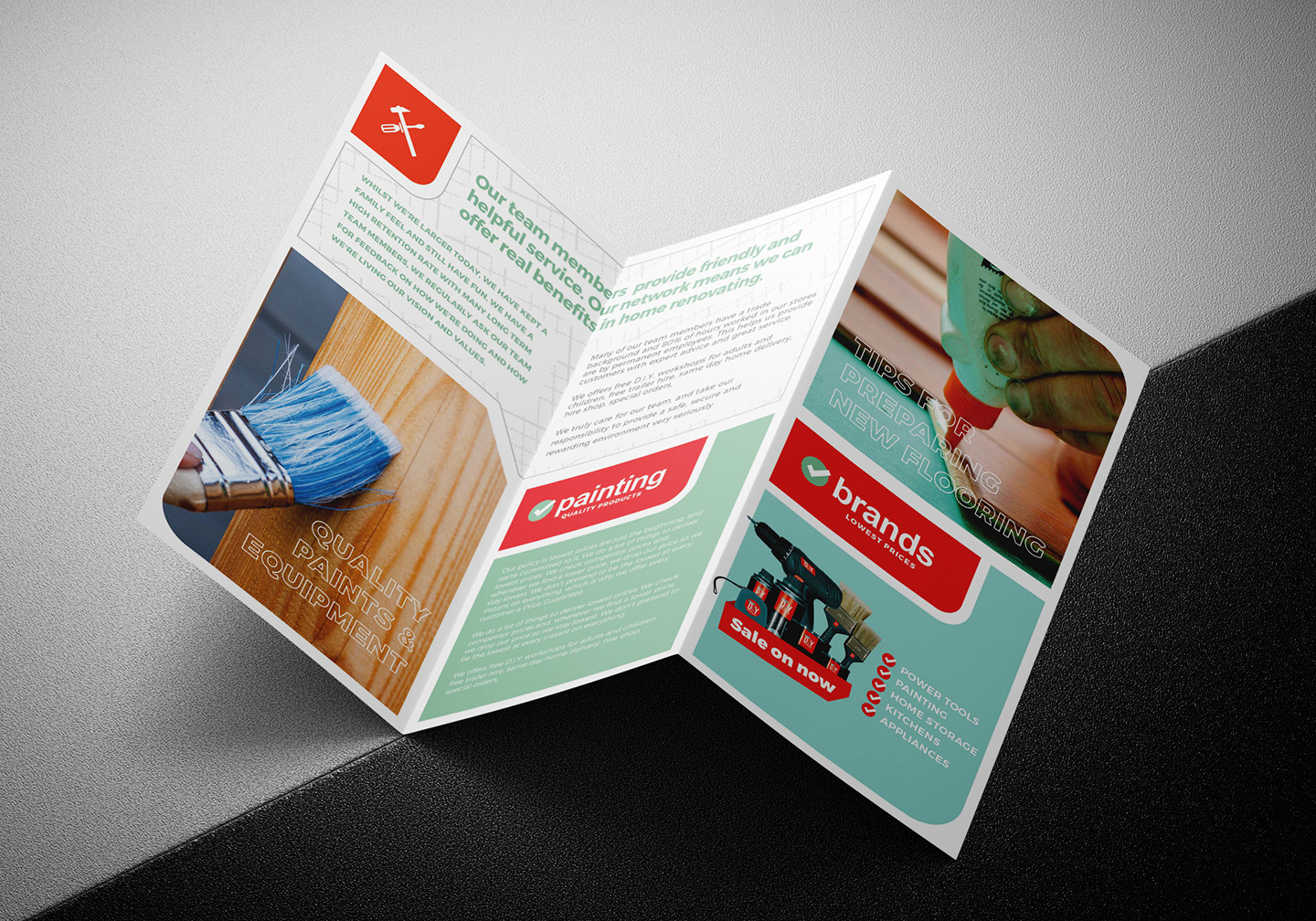 DIY Tool Supply Tri-Fold Brochure Template example image 5