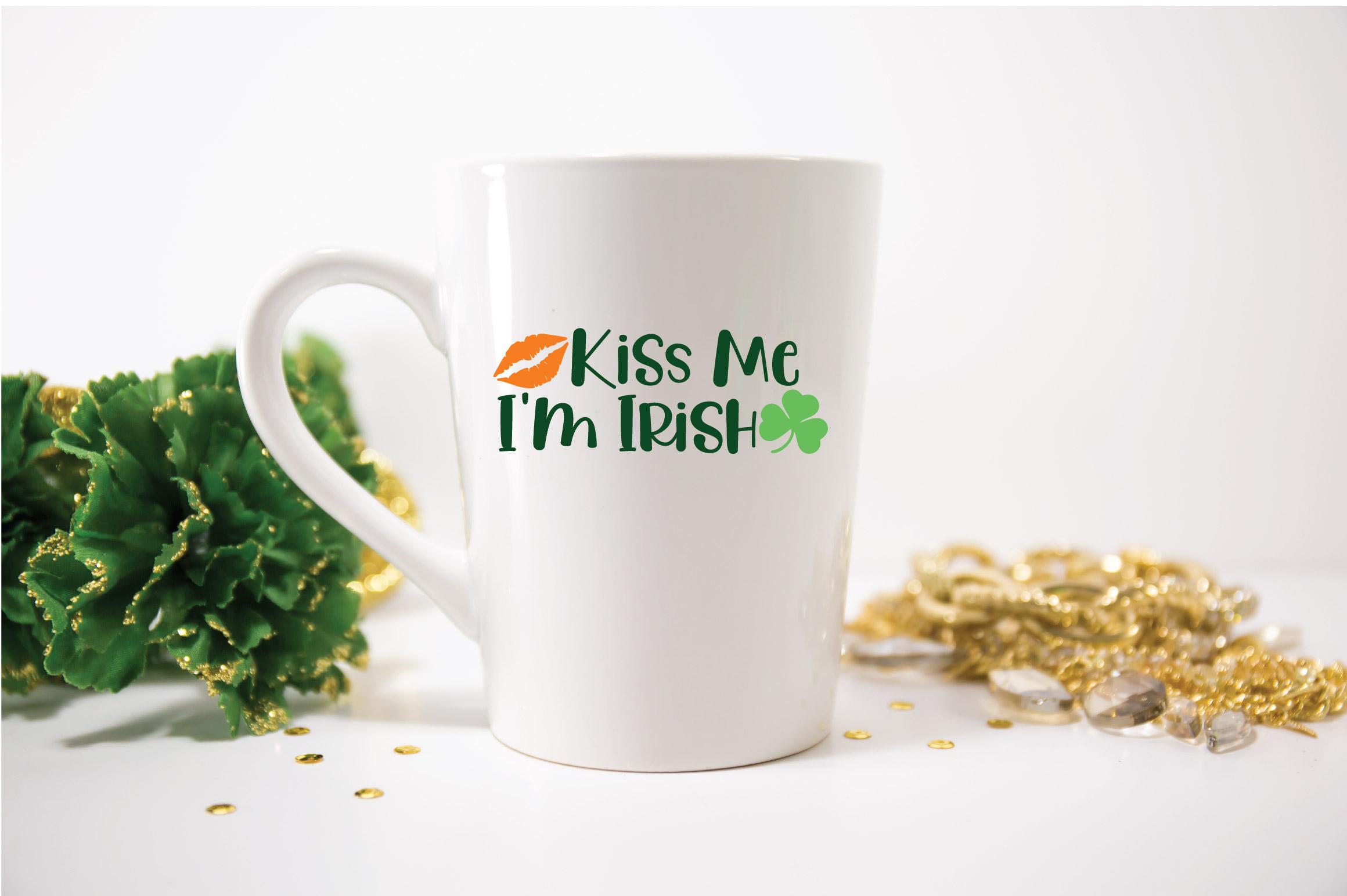 Kiss Me I'm Irish SVG Cut File - St. Patrick's Day SVG - DXF example image 3