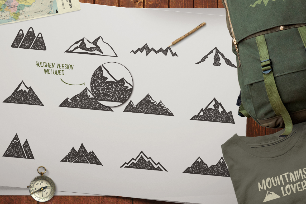 Mountain Shapes & Tee Design Vol.3 example image 4