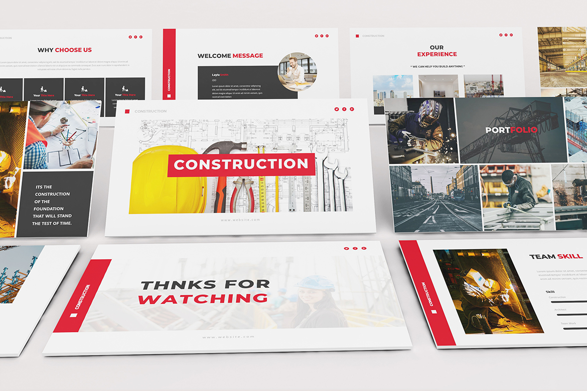 Construction Powerpoint template example image 8