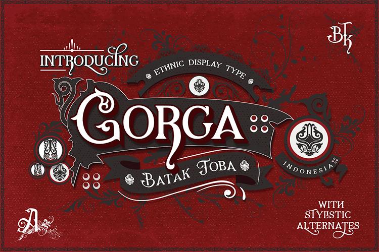 Gorga Font example image 1