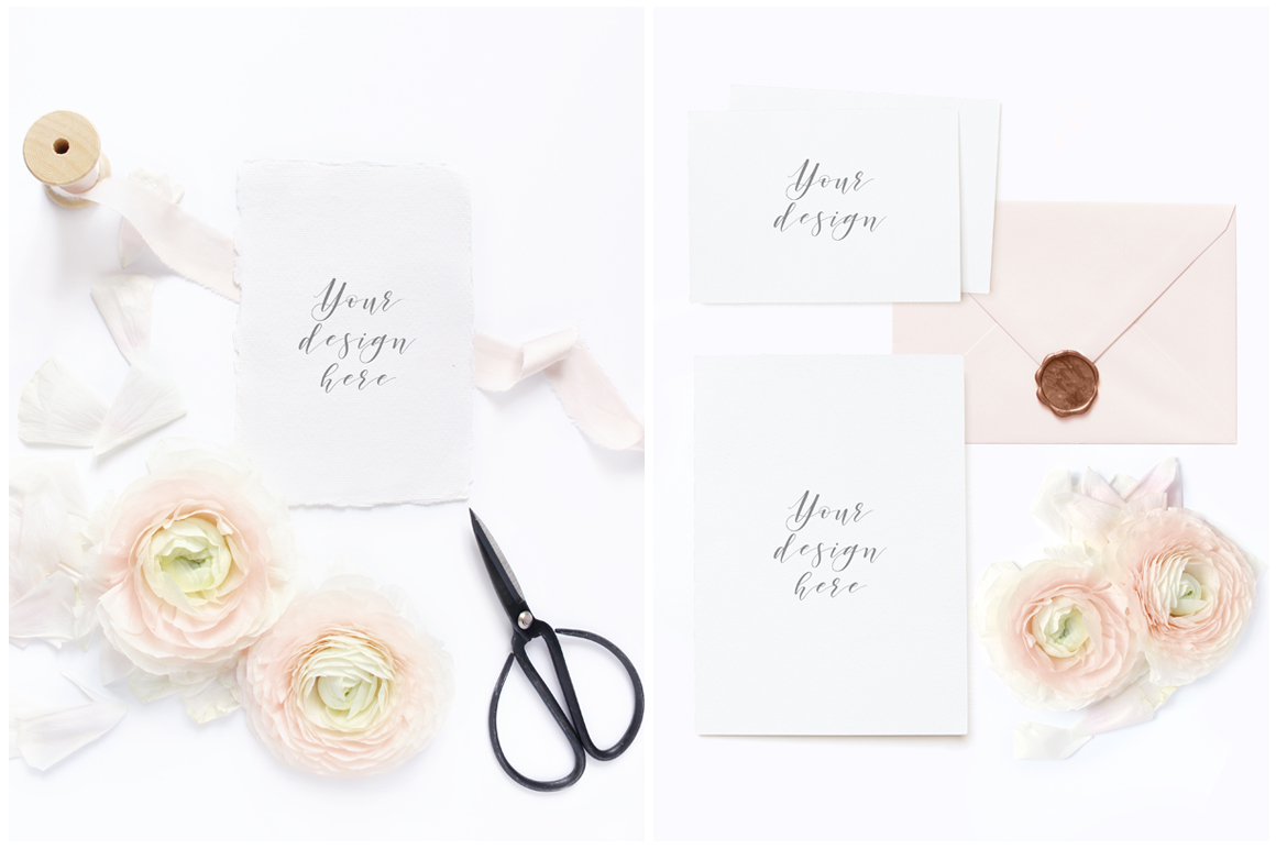 Blush Wedding mockups  & stock photo bundle example image 3