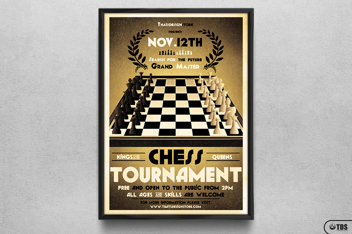 Chess Tournament Flyer Template example image 6