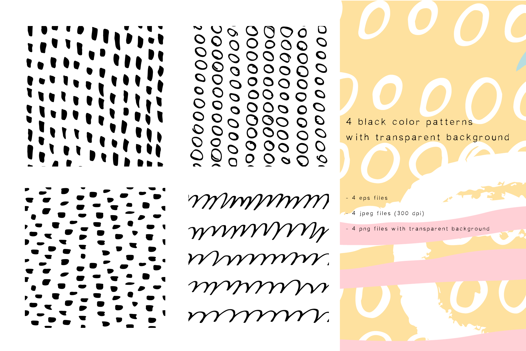 Abstract design elements. Collages & seamless patterns example image 7