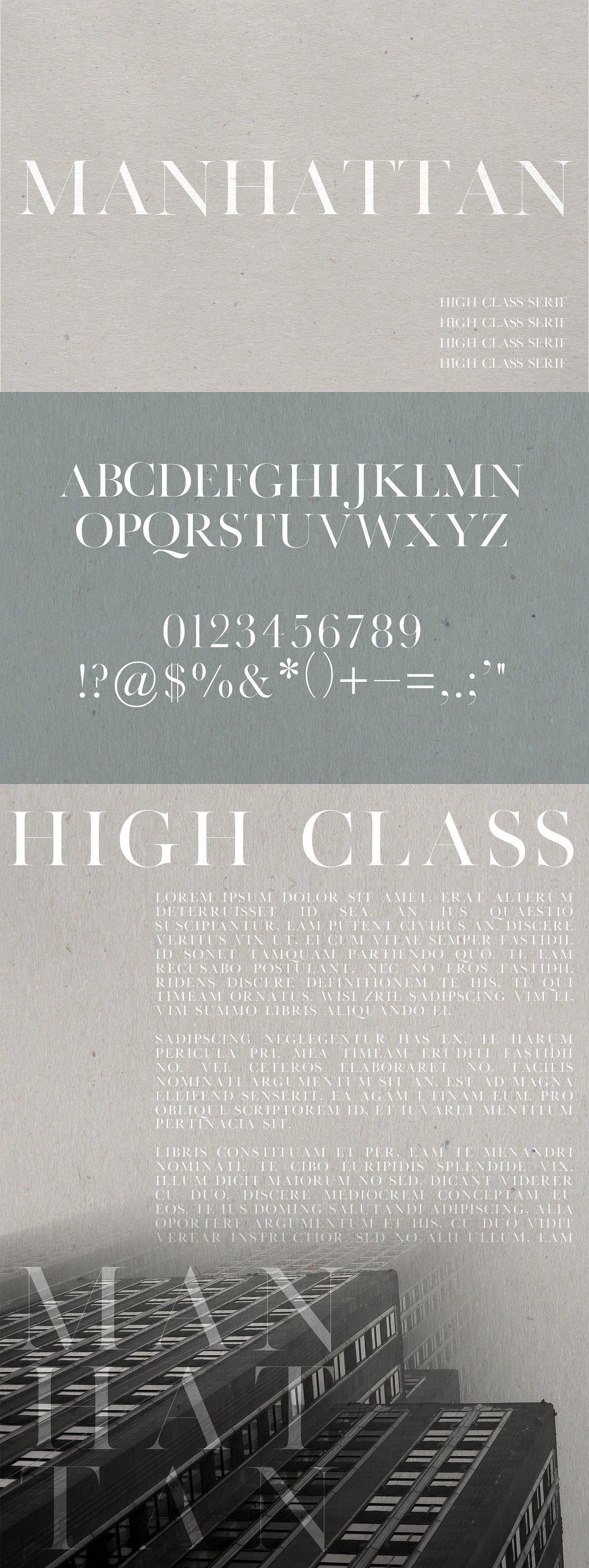 Manhattan | A High Class Serif example image 5