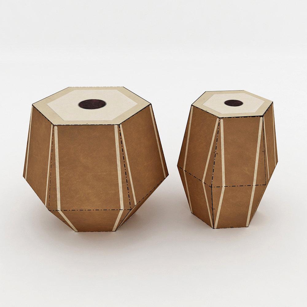 DIY Tabla Favor - 3d papercraft example image 1