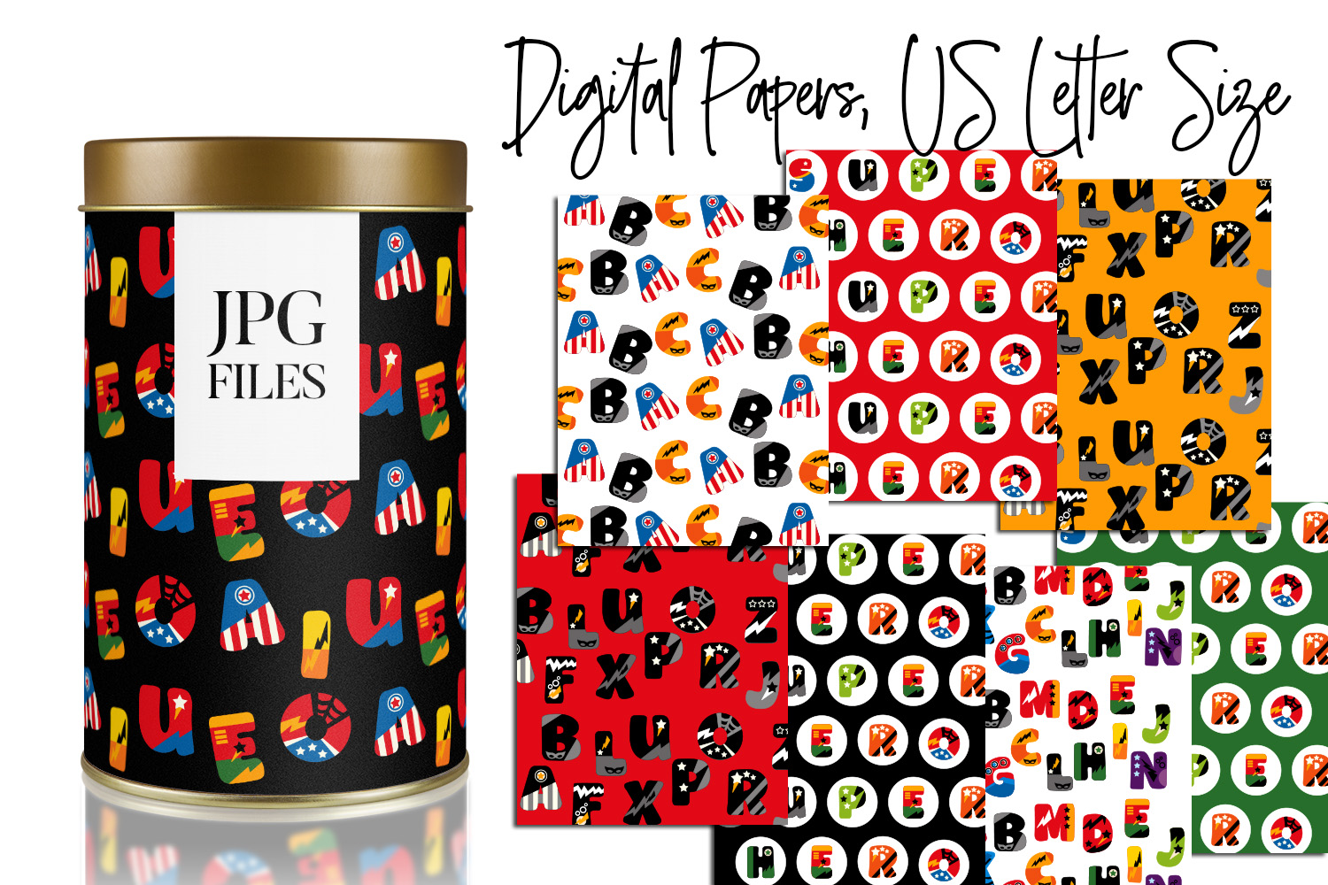 Digital Papers Bundle Vol. 2 - Background Patterns example image 9