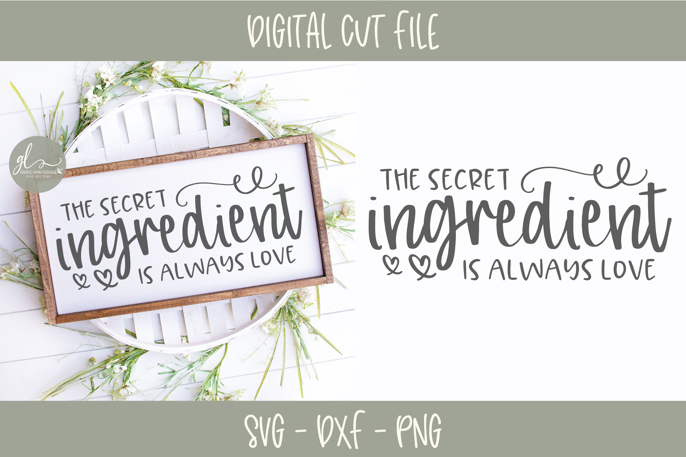 The Secret Ingredient Is Always Love - SVG example image 1