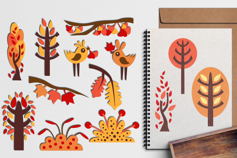 Autumn Fall Bundle - Nature clip art illustrations example image 3