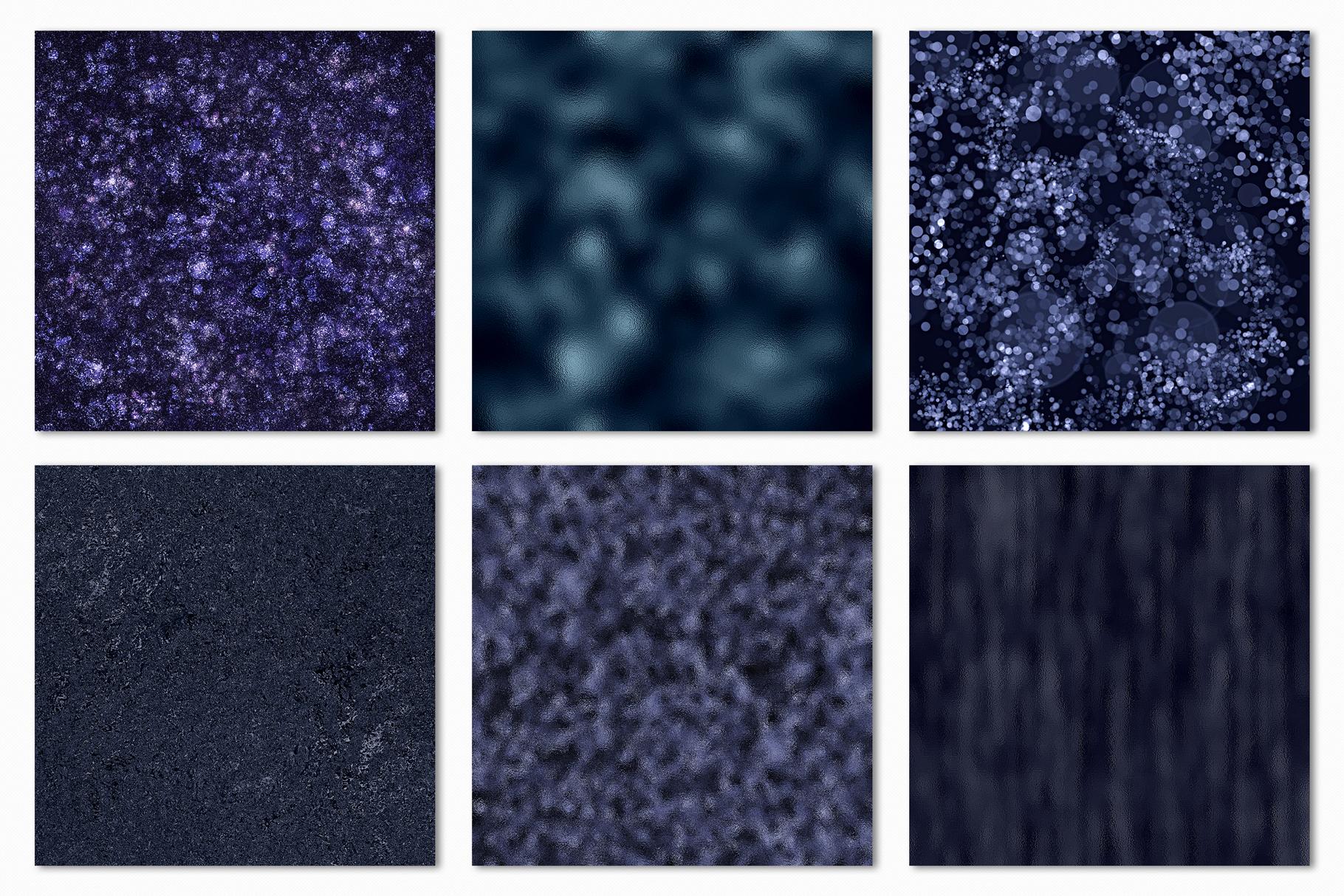 Dark Metallic Textures - 15 Foil & Glitter Digital Papers example image 12