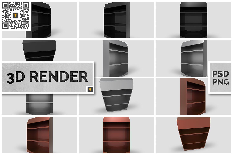 Promotional Shelf Display 3D Render example image 1