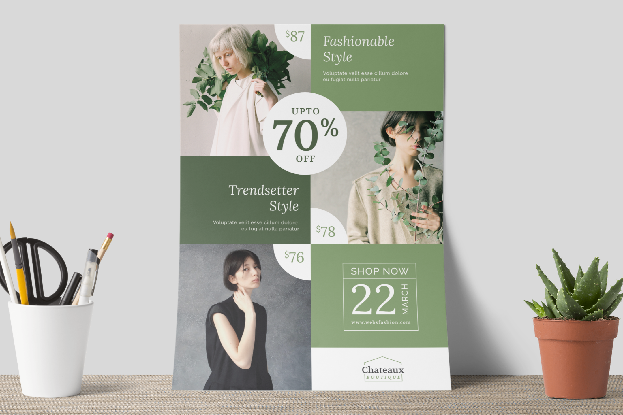 Fashion flyer template example image 7