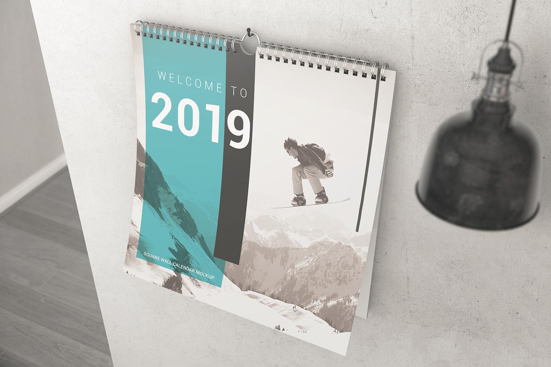 Square Wall Calendar Mockups example image 6