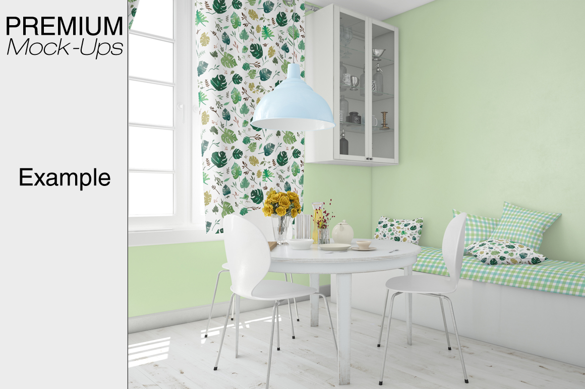 Pillows & Curtains Set - Kitchen example image 2